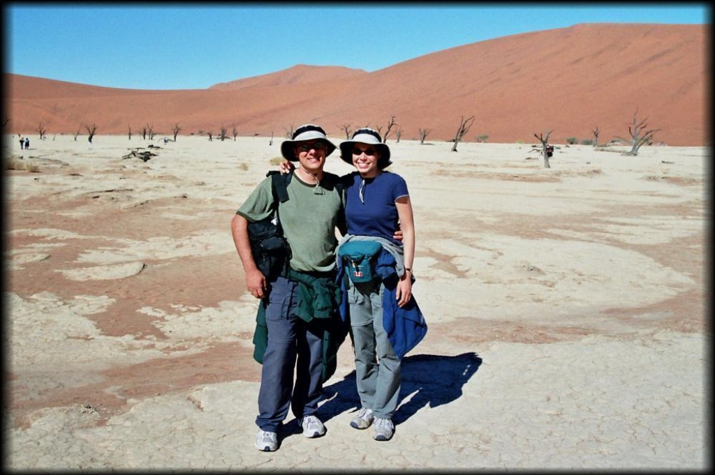 We went for a 5 km hike through the Sossuvlei dunes to Deadvlei.  It was not an easy hike as the sand was very soft.