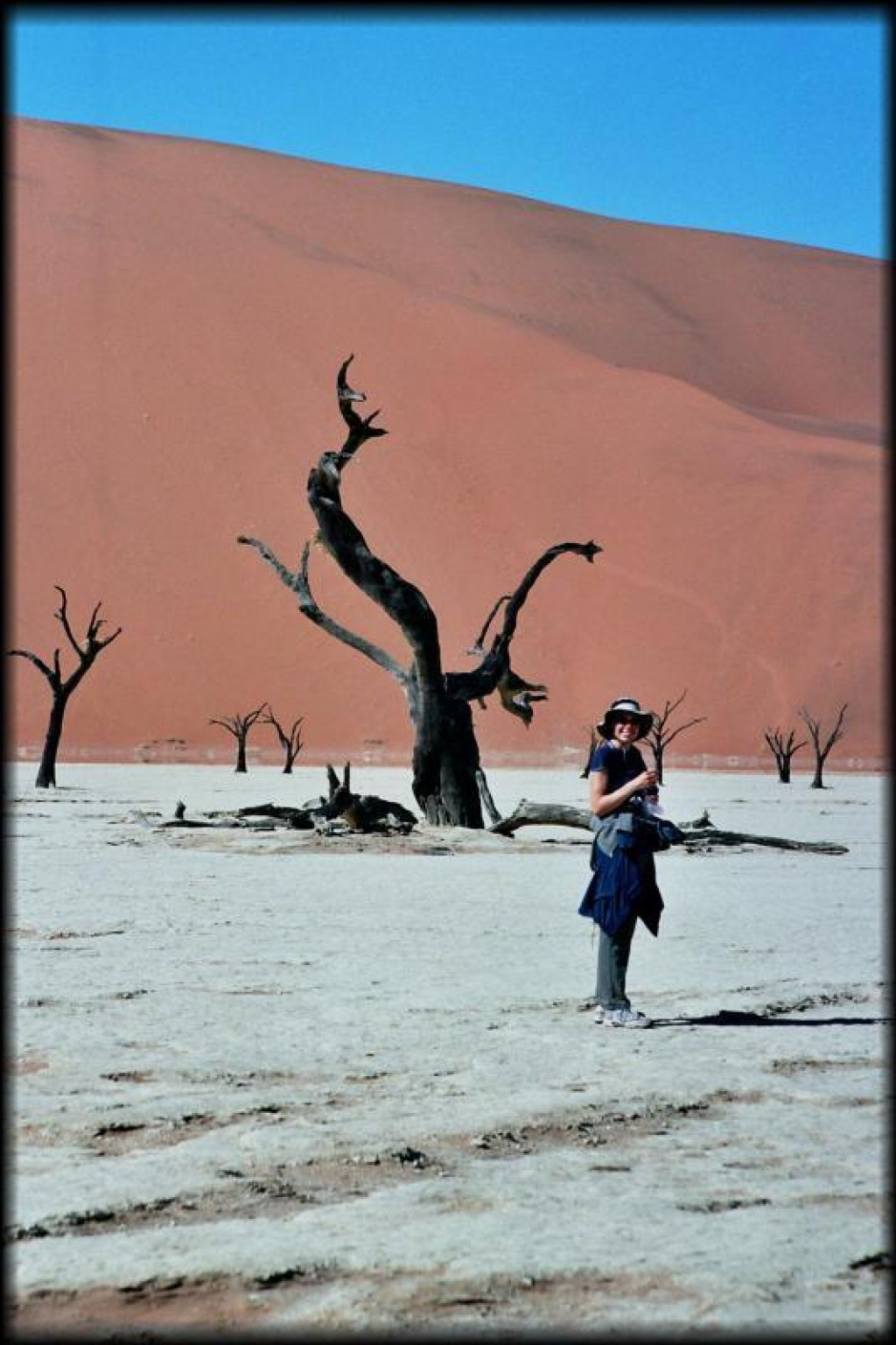 Deadvlei is a dead oasis of acacia trees that died hundreds of years ago.
