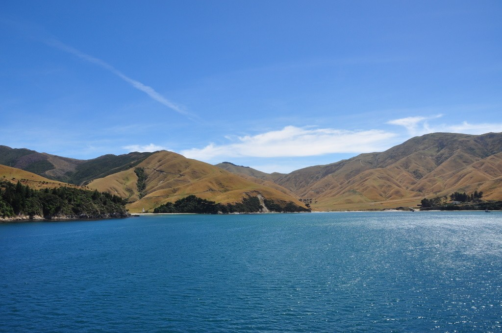 Stunning scenery in the Sounds on the way to Picton. Marlborough Sound?