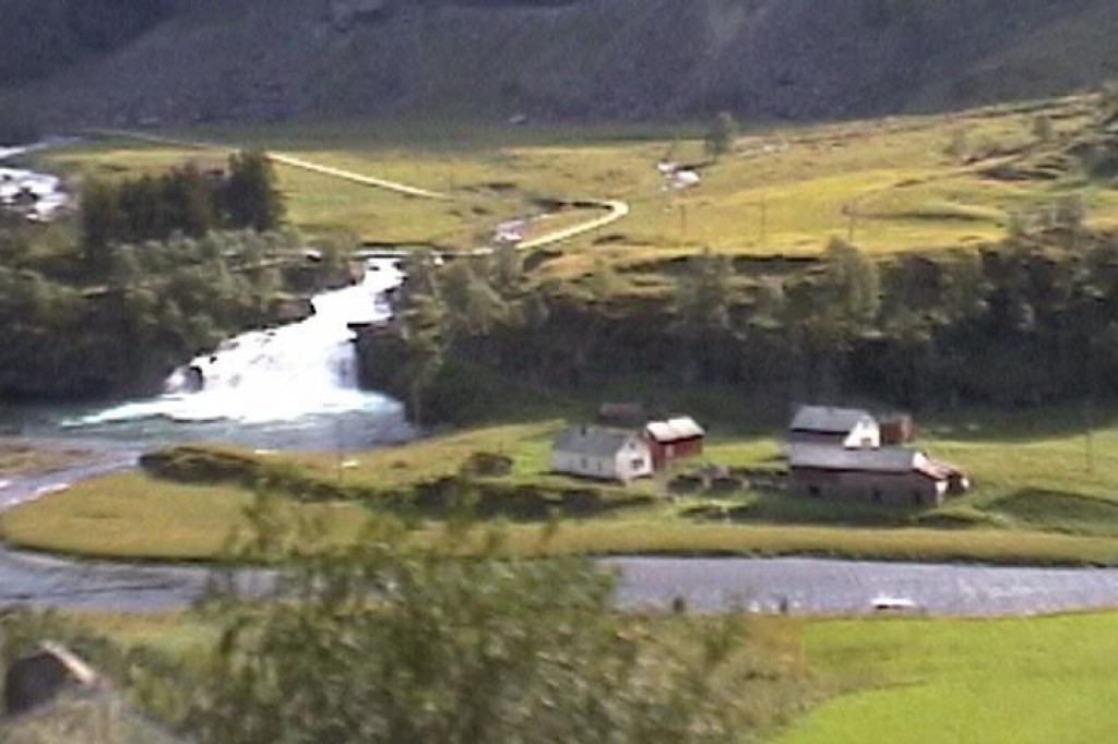 We took a cog-wheel train from Flam to Myrdal.  The scenery was beautiful.
