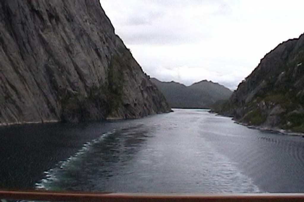 Our first day on the ship we explored the Trollfjord.  You can see how narrow it is.