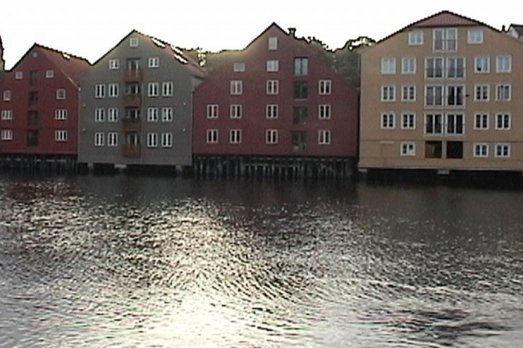 Finally - some sun!  It lasted for the three hours we had to explore Trondheim.  These are some buildings along the river.