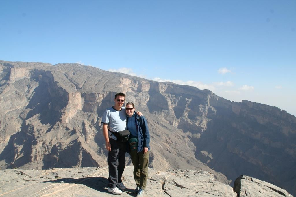 Jebel Shams is also known as the Grand Canyon of the Middle East and is a spectacular sight.