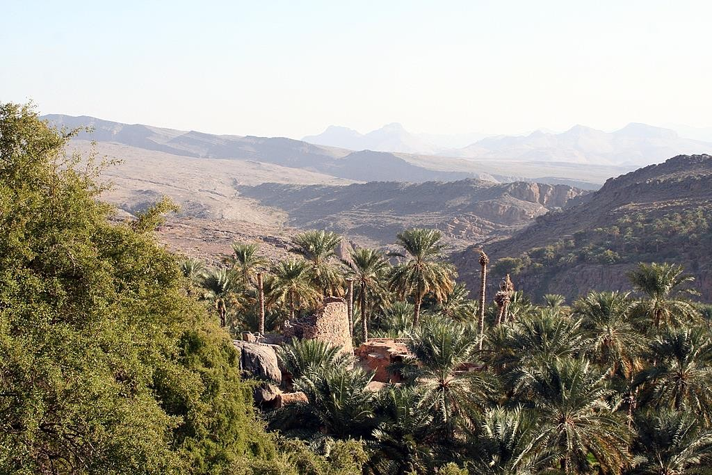 We visited the mountain town of Misfat on our way back from Jebel Shams.