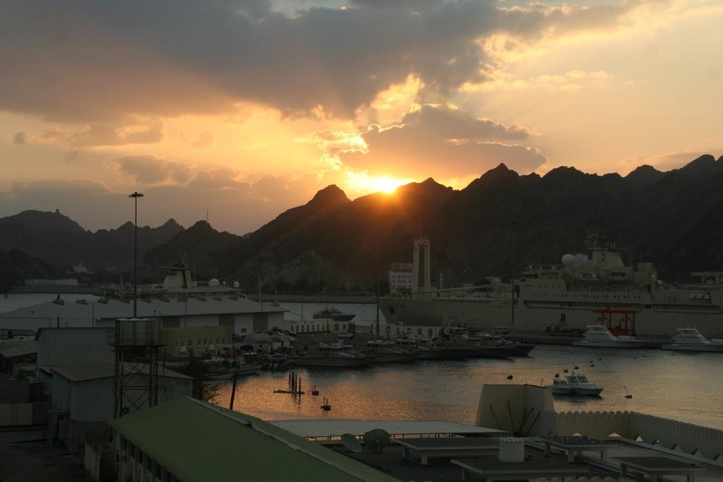 Our hotel, the Marina Hotel, was pretty dodgy but had a beautiful view overlooking the Muttrah Harbour.
