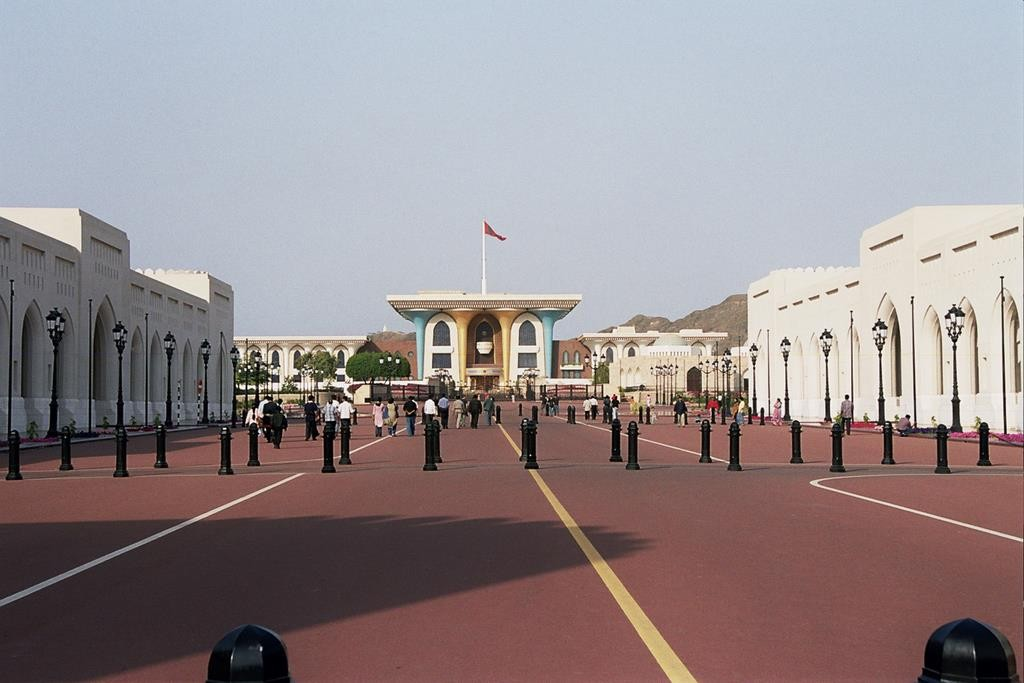 Coming up to the front of the Sultan's Palace.
