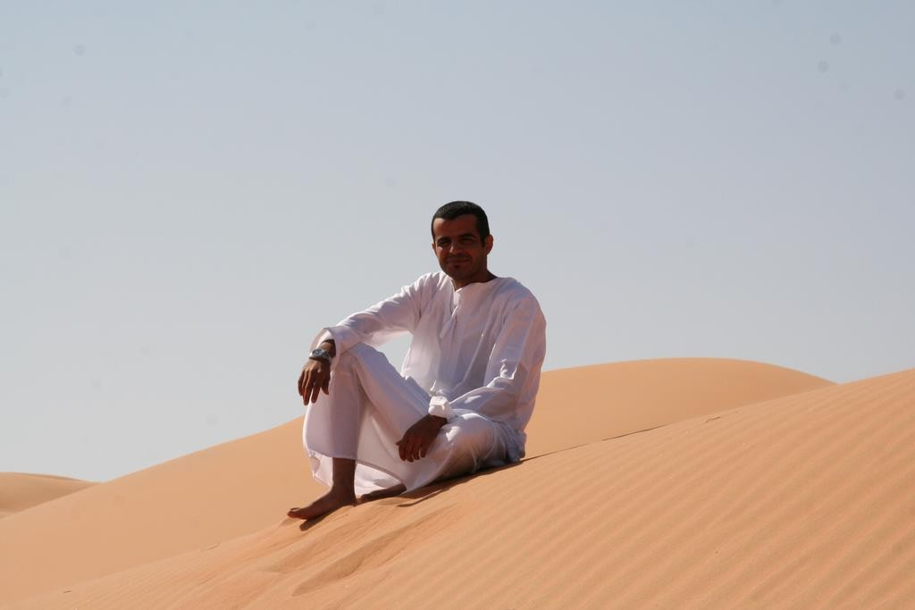 Our guide. We travelled to Wahbia Sands with Sunny Day Travels Oman.