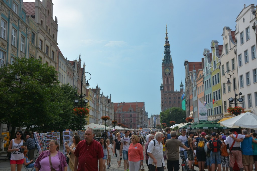 Dlugi Targ (Long Market) is the main street, and is one of the most beautiful streets we saw in Poland.