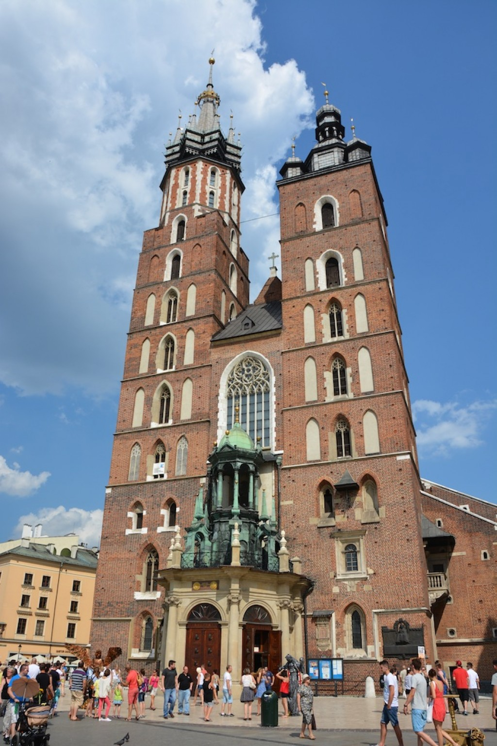 St. Mary's Basilica, a brick gothic church.