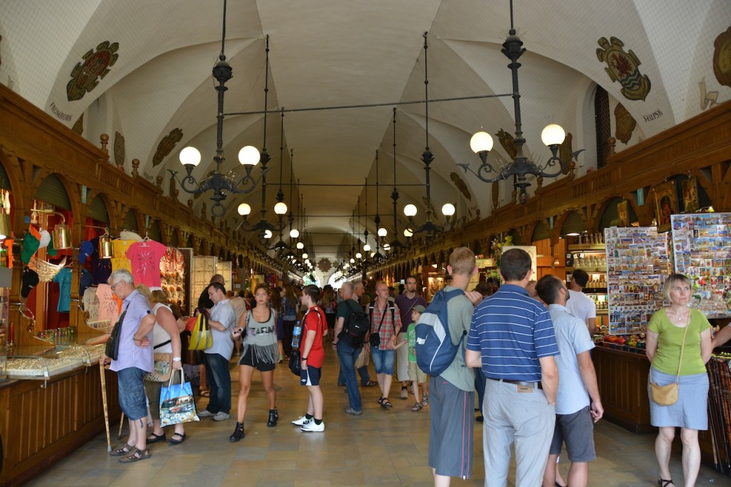 The Cloth Hall: Renaissance-style market arcade with 13th-century origins