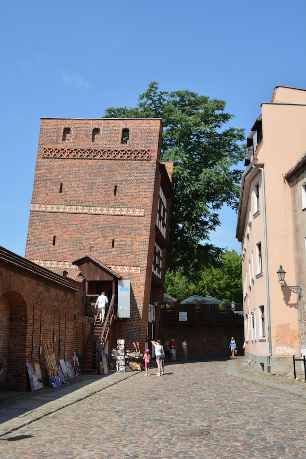 The leaning tower of Torun, or Krzywa Wieża w Toruniu. It leaned because it was built on loamy ground.