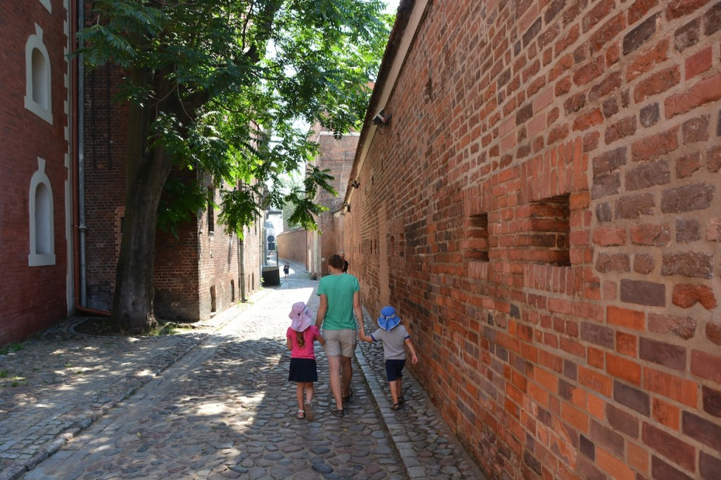 Walking the old town walls.