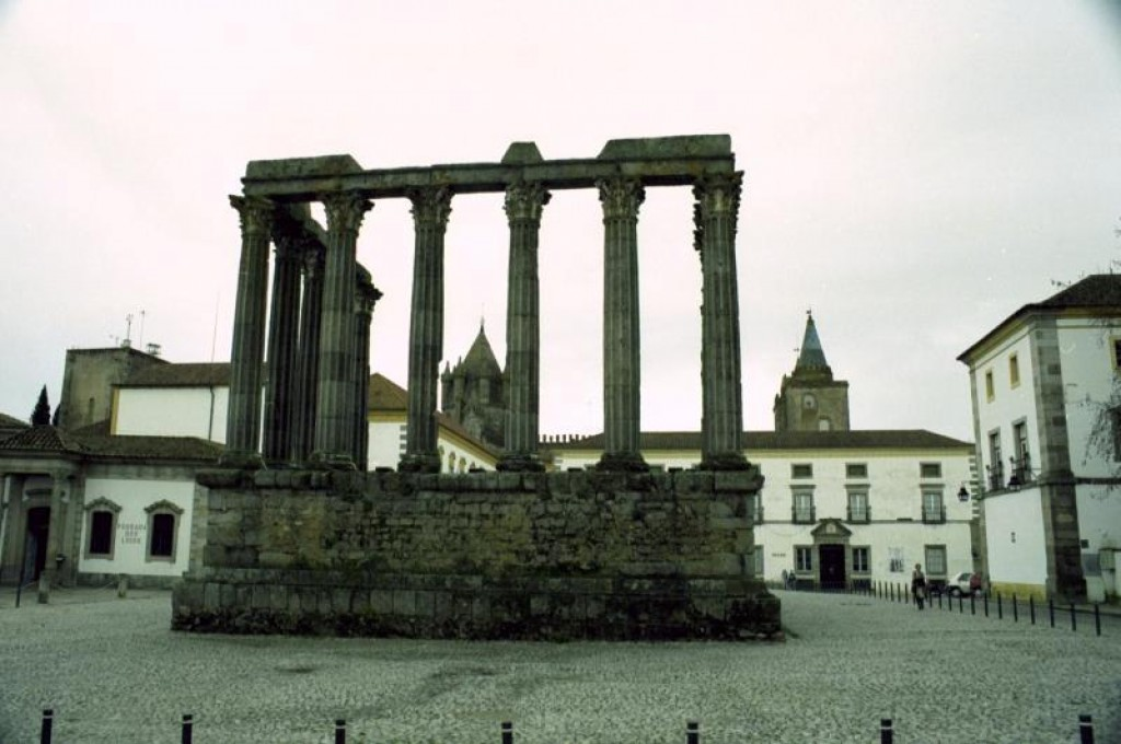 These ruins of a Roman temple are from the 2nd century.