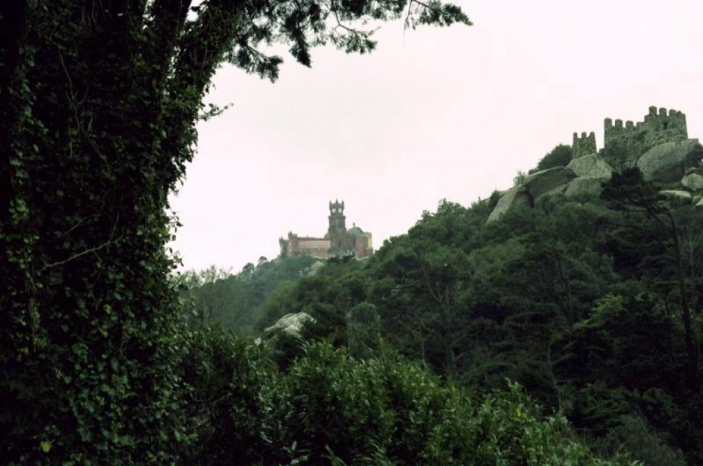 The castle as seen from the Castelo dos Mouros, our next stop in Sintra.
