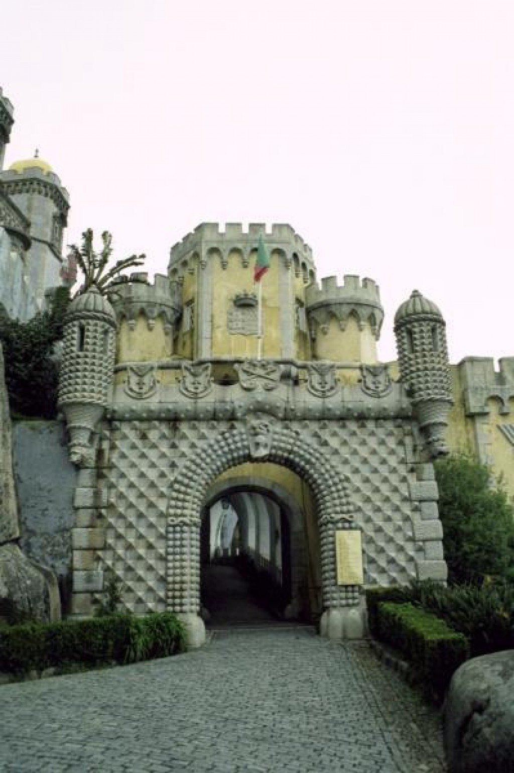 The Palacio Nacional da Pena was built in the 1840s by a Bavarian prince, and really looks like a Disney creation.  He was apparently homesick, and managed to mix Portuguese and German styles.