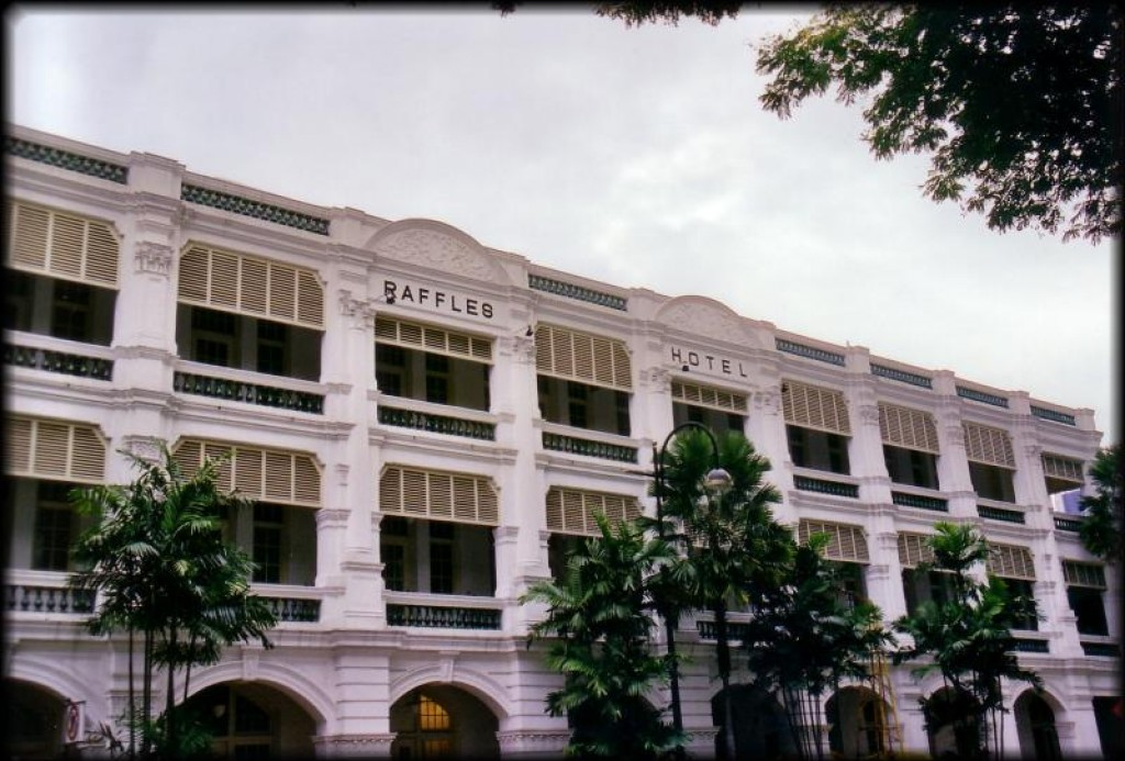 We walked to the Raffles Hotel, a beautiful old hotel where we couldn't even afford tea.