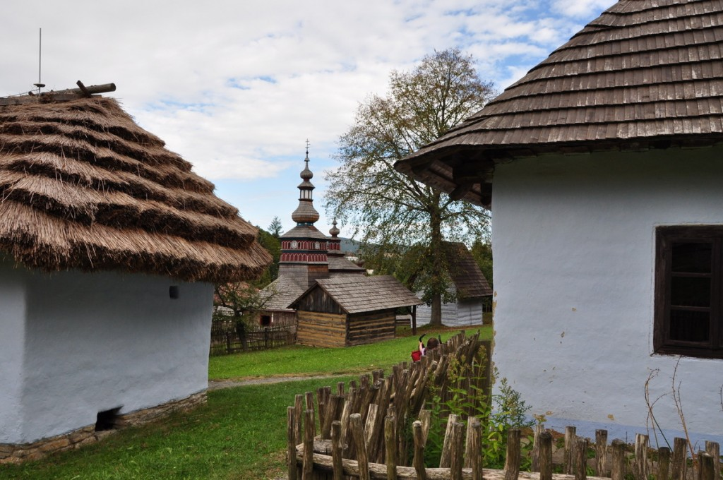 We visited the open air museum (Skanzen) – Museum of Folk Architecture in Bardejov Kupele, 5 km from Bardejov.  It is a spa area, but the open air museum was fun to wander around, and very, very quiet.