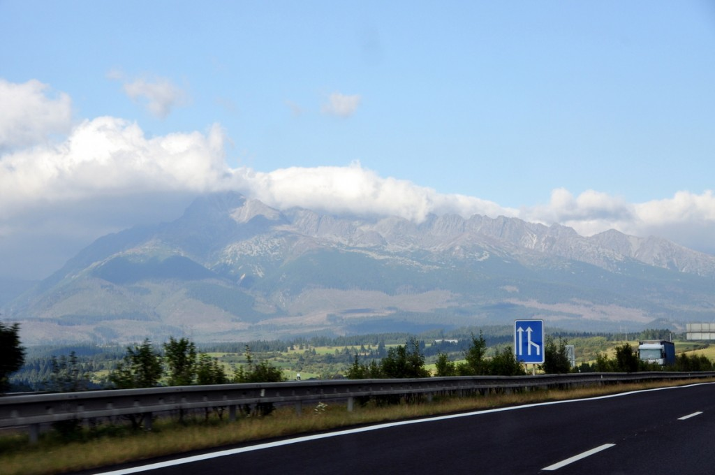 A beautiful backdrop for our drive to Bardejov.