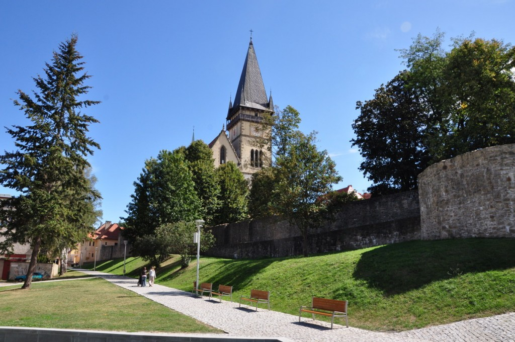 The walls date from the 14th and 15th century, and are some of the best preserved fortifications in Slovakia.