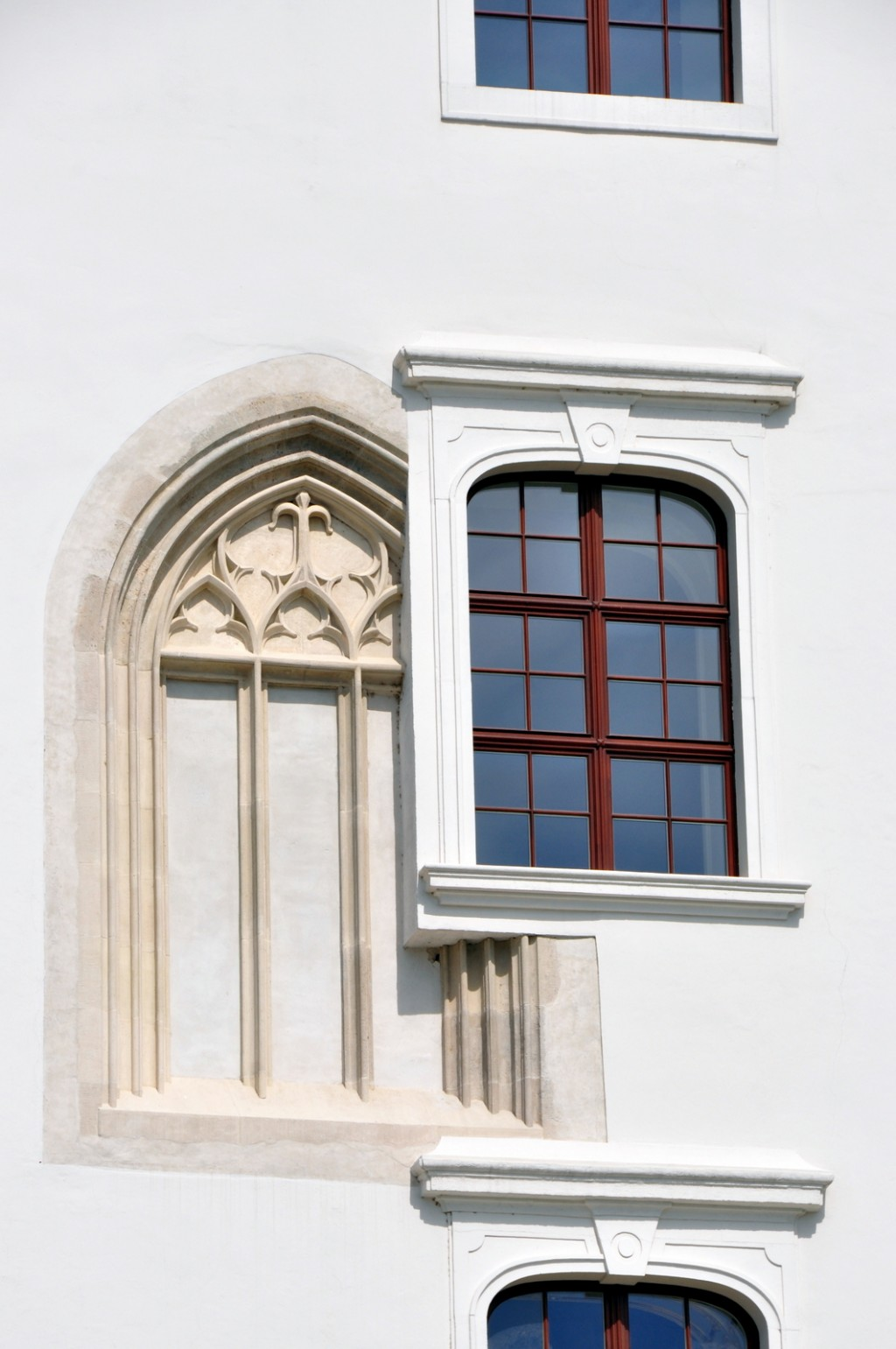 When they restored the castle, some of the architecture of the windows got a little confused.