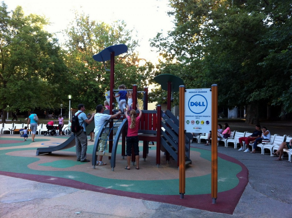 There was a great playground close to the hostel, in the Medicka Zahrada