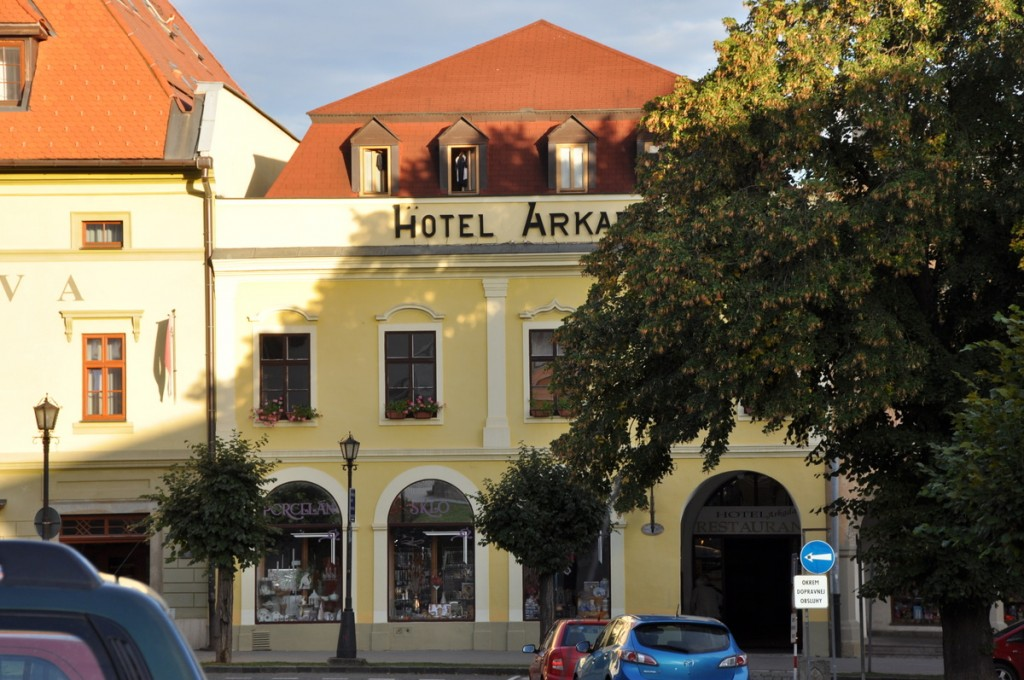 We stayed at the Hotel Arkada on the town square.