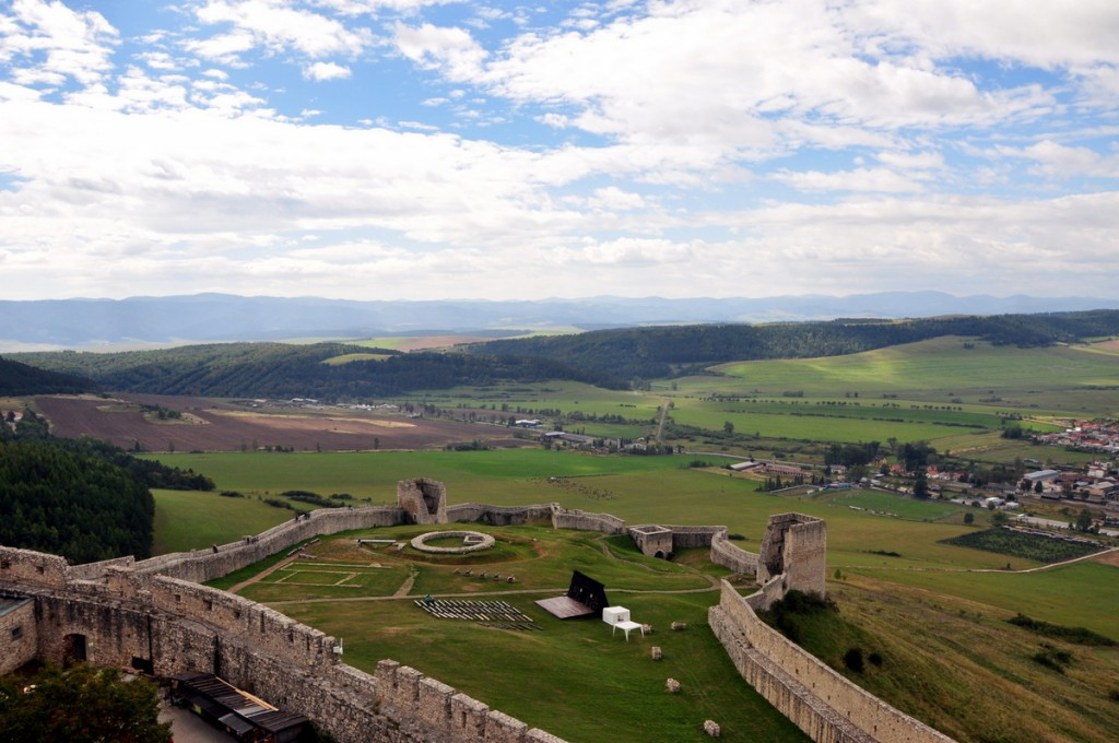 Spis Castle is one of the largest castle sites in Central Europe.  The views of the surrounding country side was also beautiful.