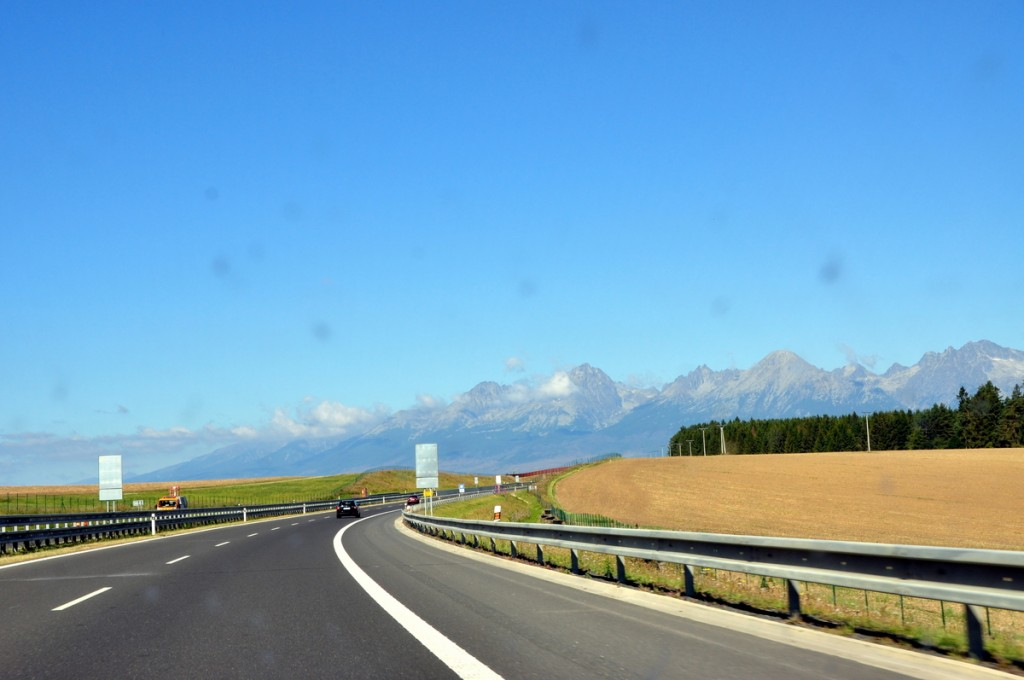 On the way to the High Tatras (High Tatra Mountains).