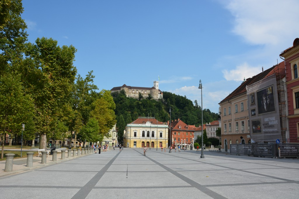Congress Square with Ljubljana Castle in the background