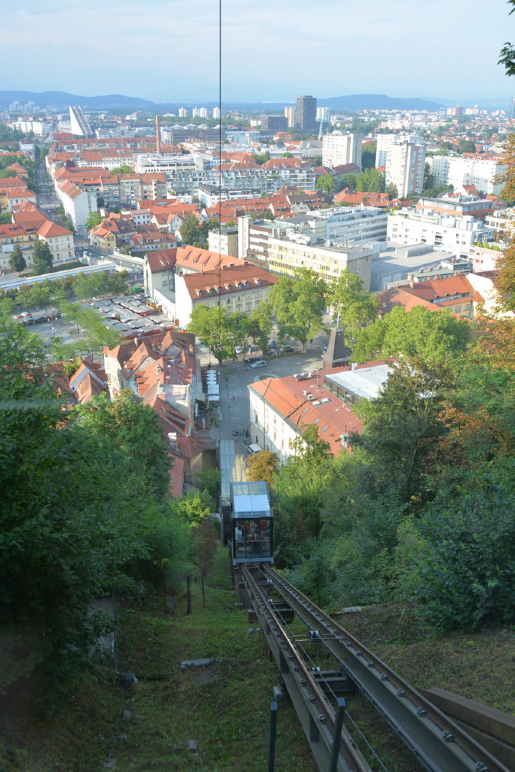 Taking the funicular back down