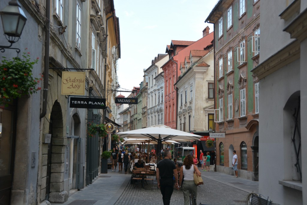 It's hard to believe you're in a European capital when you're wandering the streets of Ljubljana.  It is compact, it is clean, and very pretty, and centered around a river with sidewalks on either side and restaurants, cafes and shops.