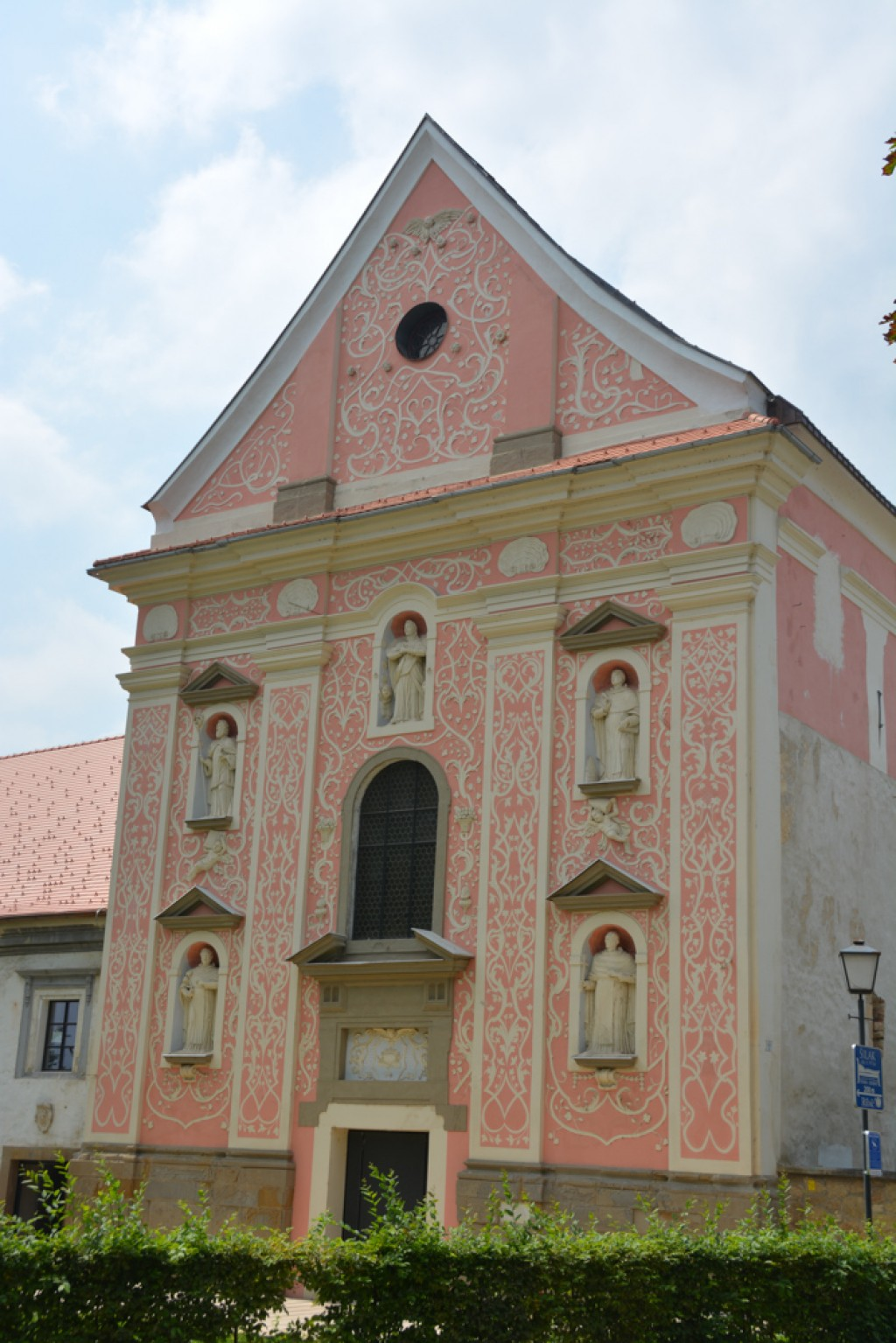 Dominican Monastery, beautiful pink building in Ptuj