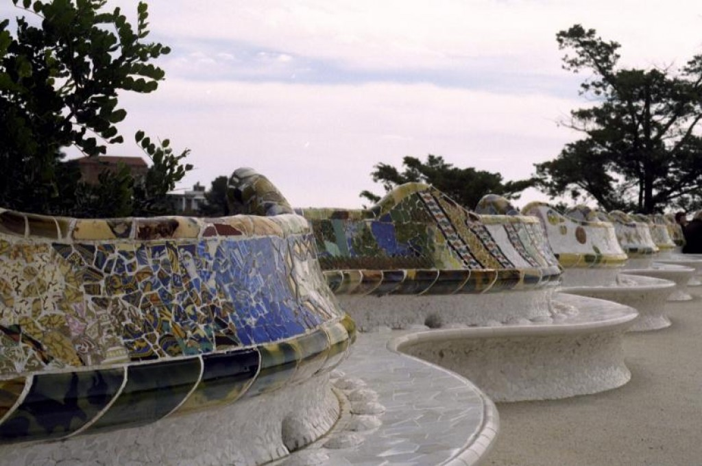 Parc Guell has the longest park bench in the world.  The park was designed by Antoni Gaudi.  It was originally intended to be a city within a city for Barcelona's elite, but when only two aristocrats signed on, became a park.