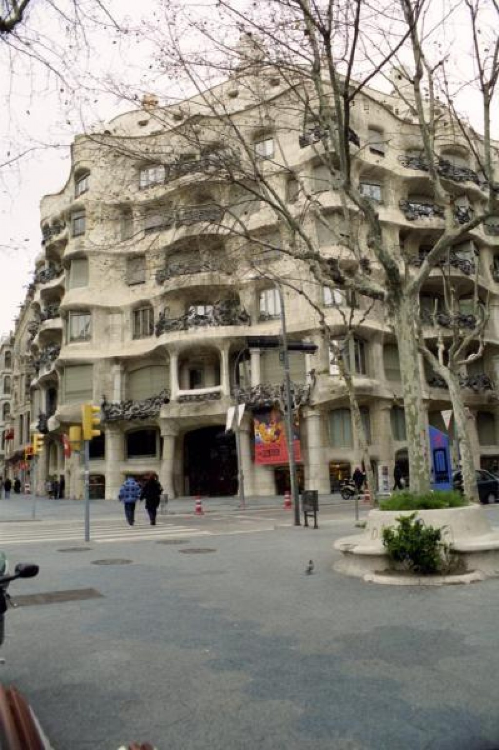 We visited the Casa Mila, which is an apartment building designed by Gaudi.  We took a tour.