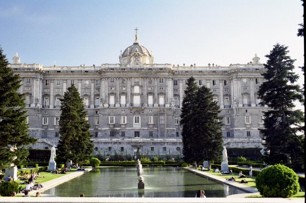 Welcome to Madrid.  This was the last city we visited on our tour of Spain, Portugal, and Morocco.  At this point we were pretty tired of European cities, but this means fewer photos to look at!  Here is an outside shot of the Palacio Real.