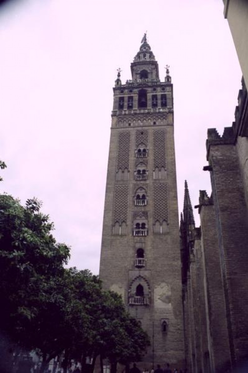 This is La Giralda, the minaret from the old mosque, built in 1198.