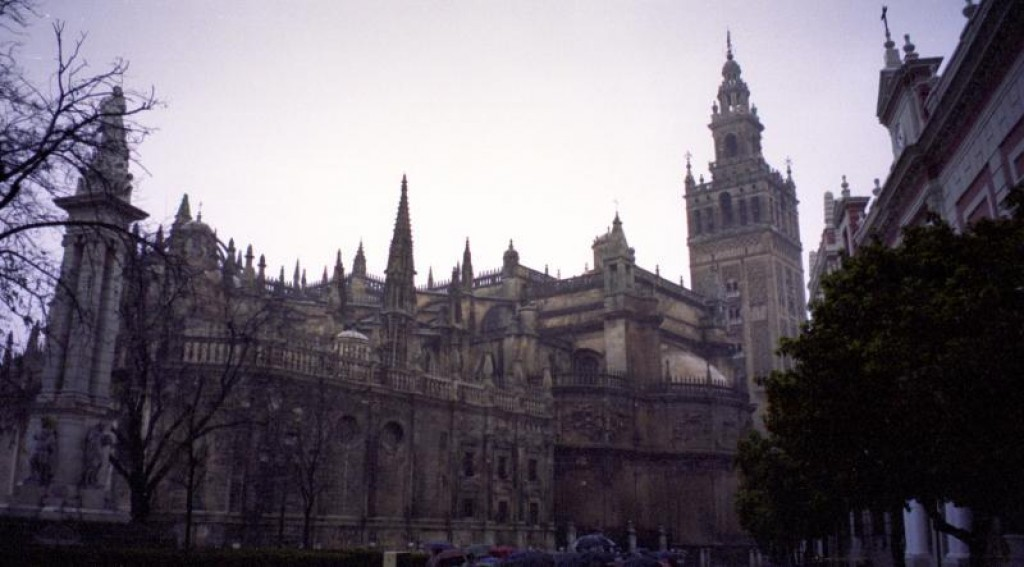 The cathedral in Seville is the third largest in the world.  It's the world's biggest gothic building ever constructed.