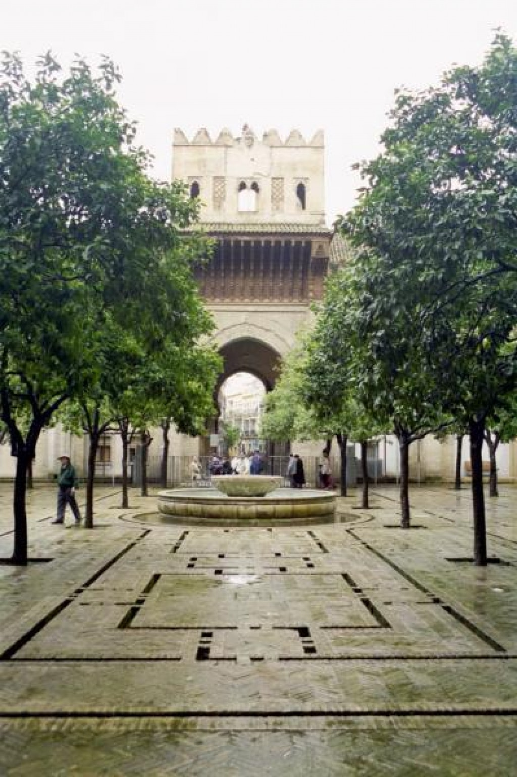 This is the garden outside the cathedral.  The garden, along with the minaret, is all that remains of the mosque that once stood on this spot.  It was used for washing before prayer.