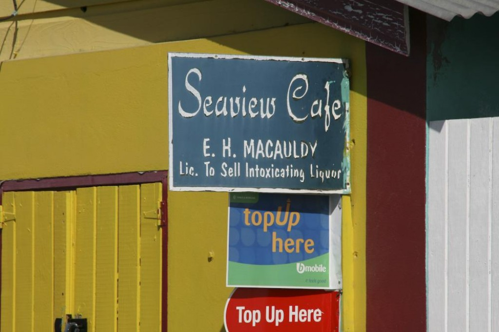 Seaview Cafe - Licensed to sell intoxicating liquor - and a lot of the locals were sure taking advantage.