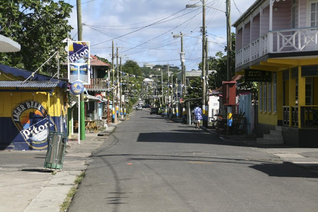 The main street of Gros Islet