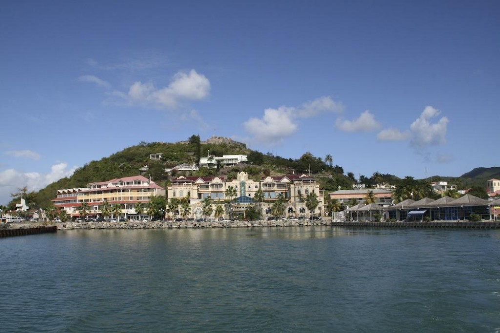 View of Marigot, seen while leaving towards Anguilla