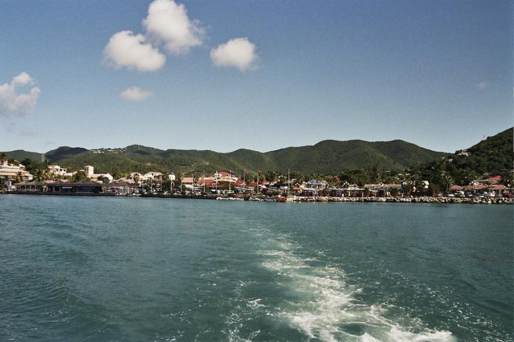 Leaving towards Anguilla from Marigot on the fery