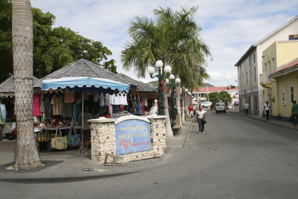 Philipsburg Market Place.  Buy your tacky souvenirs here!