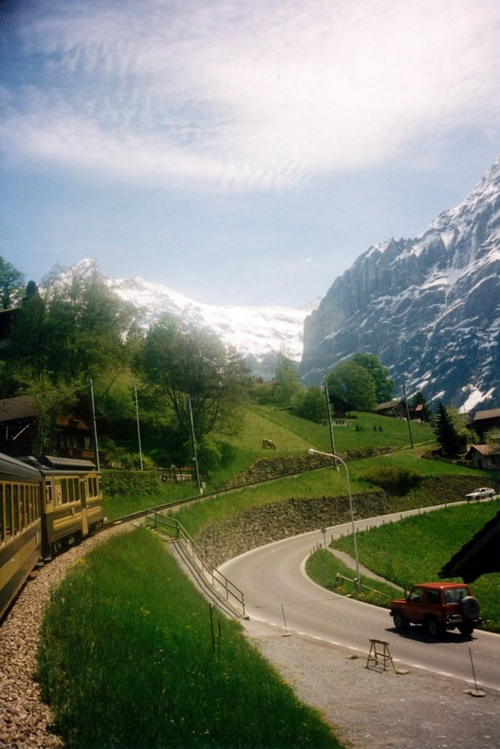 Going up the Jungfrau, one of the highest peaks in the Swiss Alps, by train