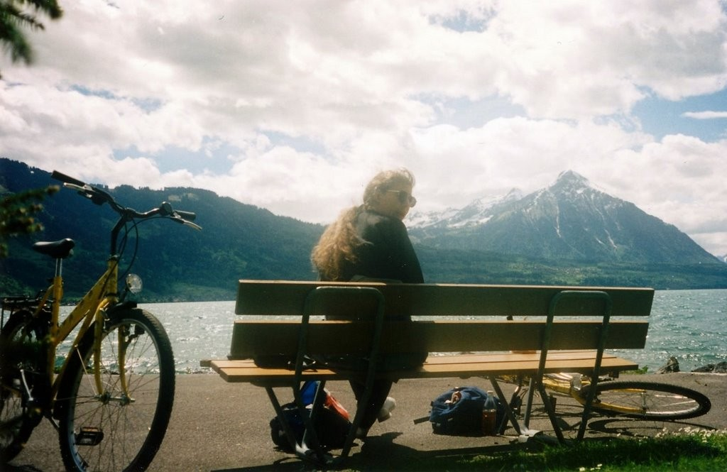 We rented bikes and biked around Interlaken the next day.