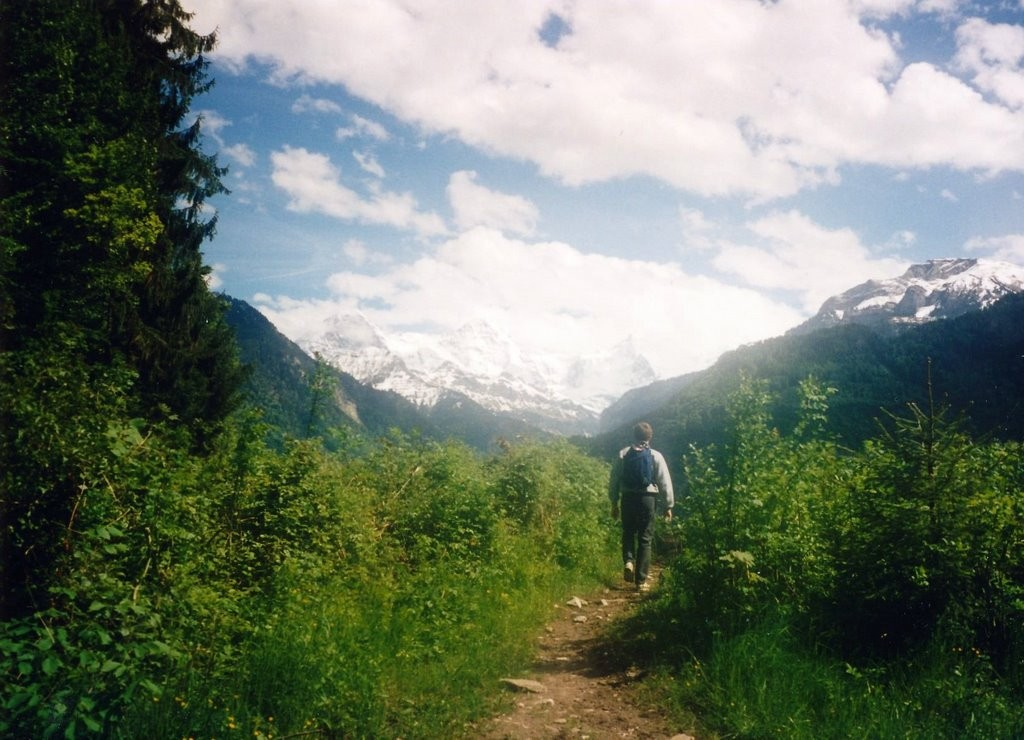 Hiking in Interlaken, later the same day