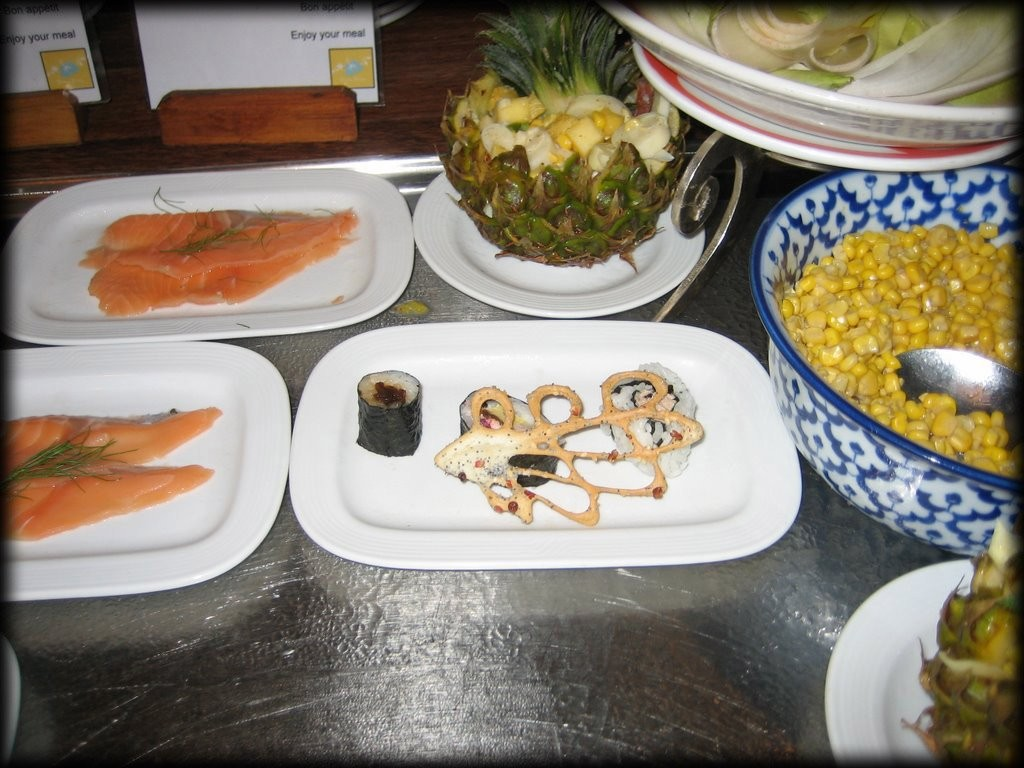 The restaurant often had great Japanese food too - sashimi and sushi.