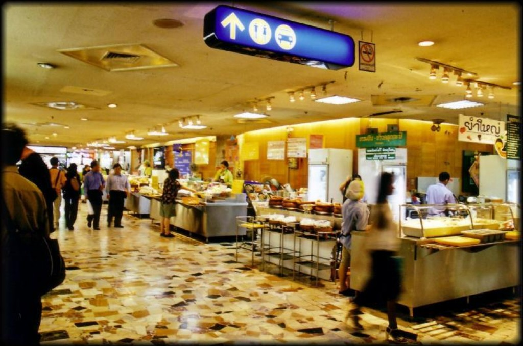 This is the food court inside the mall.