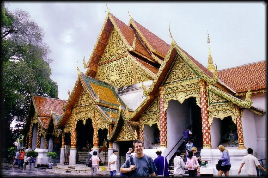 Entry to the Wat at Doi Suthep.