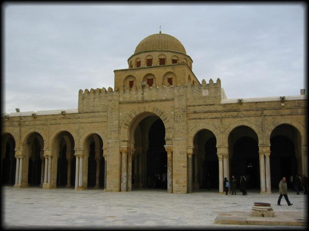 The Great Mosque (aka the Sidi Okba Mosque, named after the founder of Kairouan). This was re-built by the Aghlabids in the 9th century.